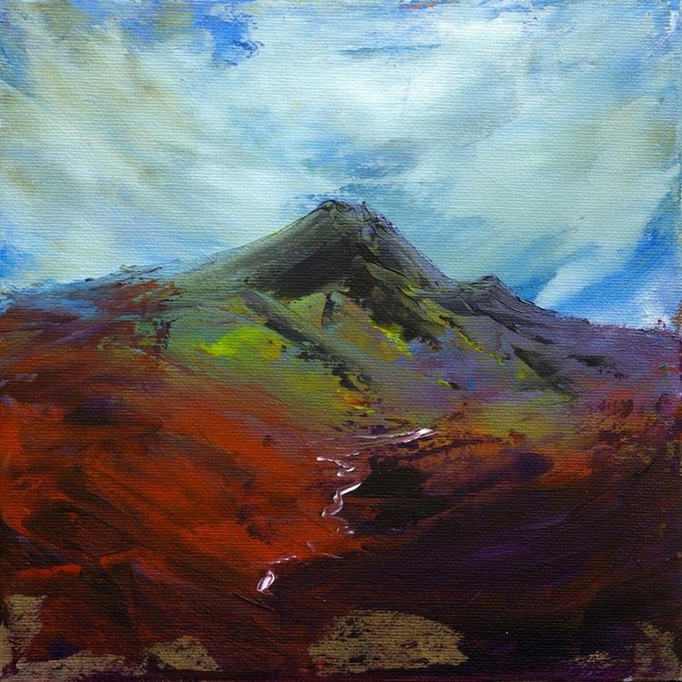 Heather Fell, English mountain landscape painting. - Image 0