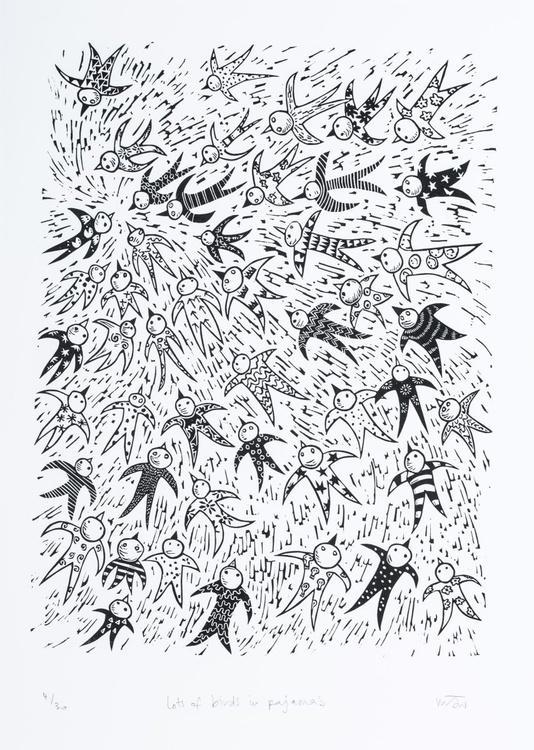Lots of birds in pyjamas - Image 0