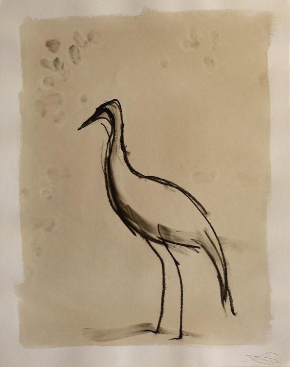 White Crane, 32x40 cm - Image 0