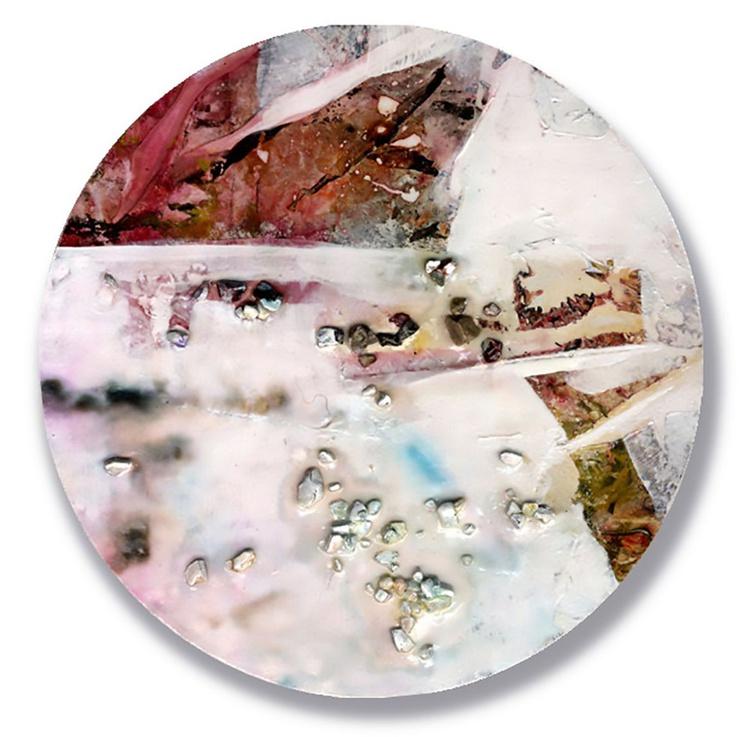 Abstract Painting - Mixed Media - Circle Abstraction Series . No. 19 - Image 0