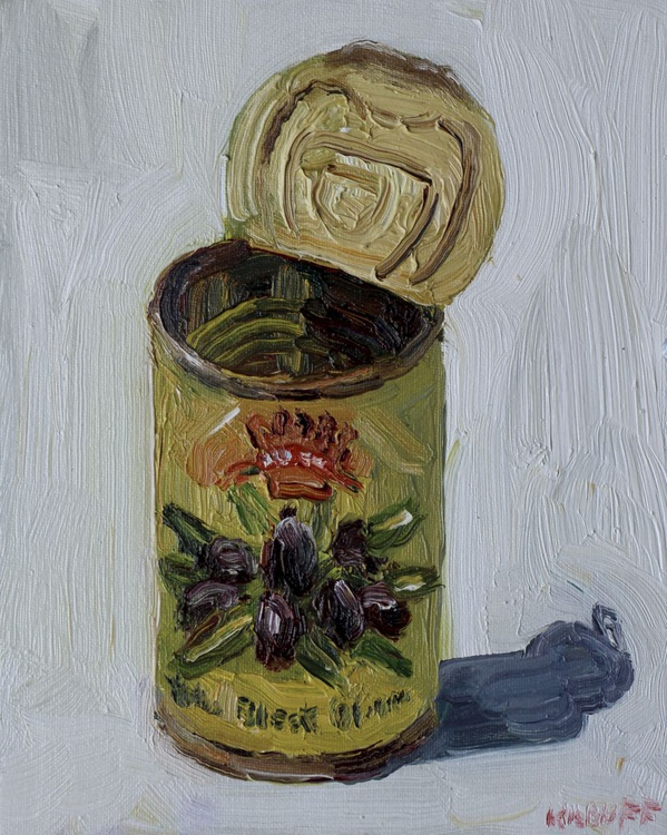 Whole Black Olives in oil - Image 0