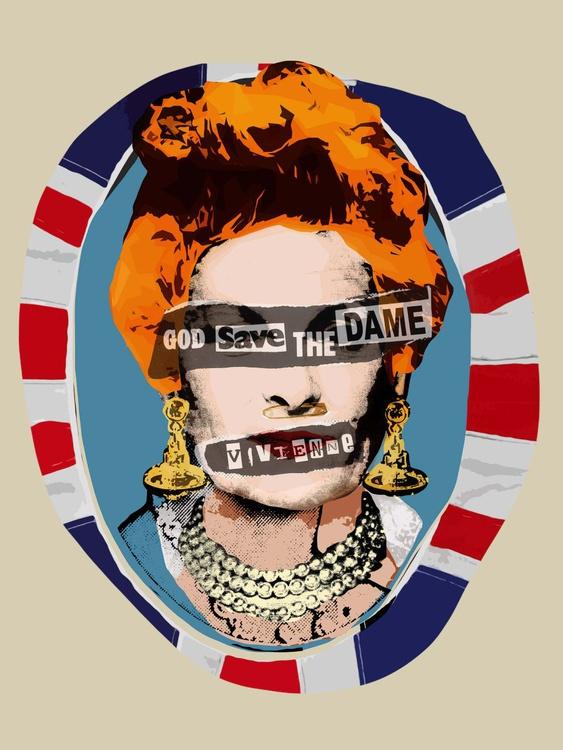 Pop Punk Vivienne (God Save The Dame, 2016) - Pop Art Portrait - Image 0