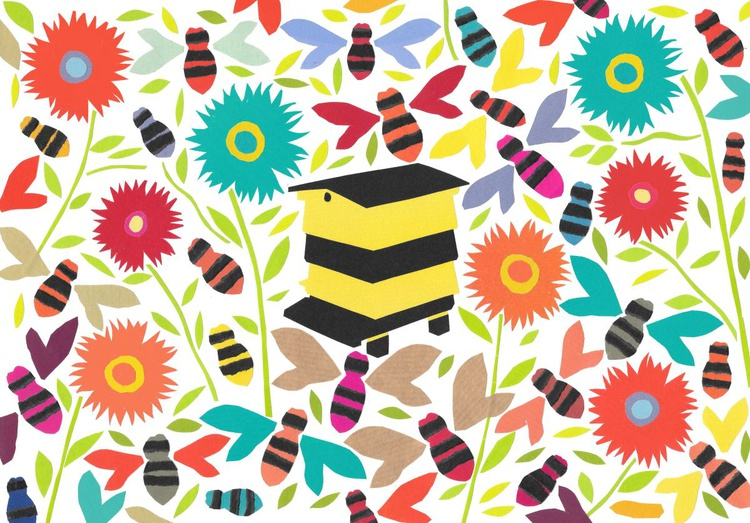 Bee cause bees are lovely  (Hand Cut Collage) Original Picture - Image 0