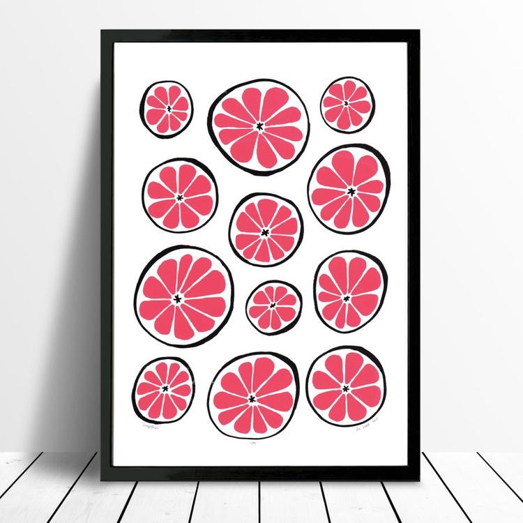 Grapefruit - Framed - FREE UK Delivery - Image 0
