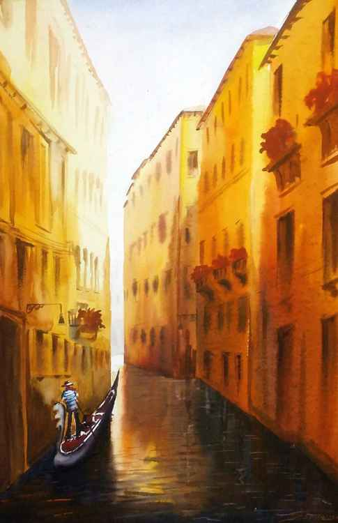 Beauty of Venice Canals - Watercolor Painting -