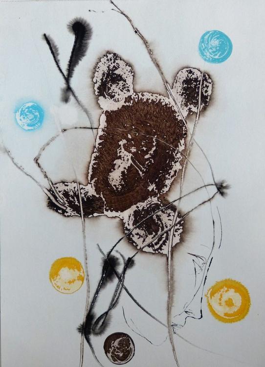 Introspectus #13 , Acrylic on paper 29x41 cm - Image 0