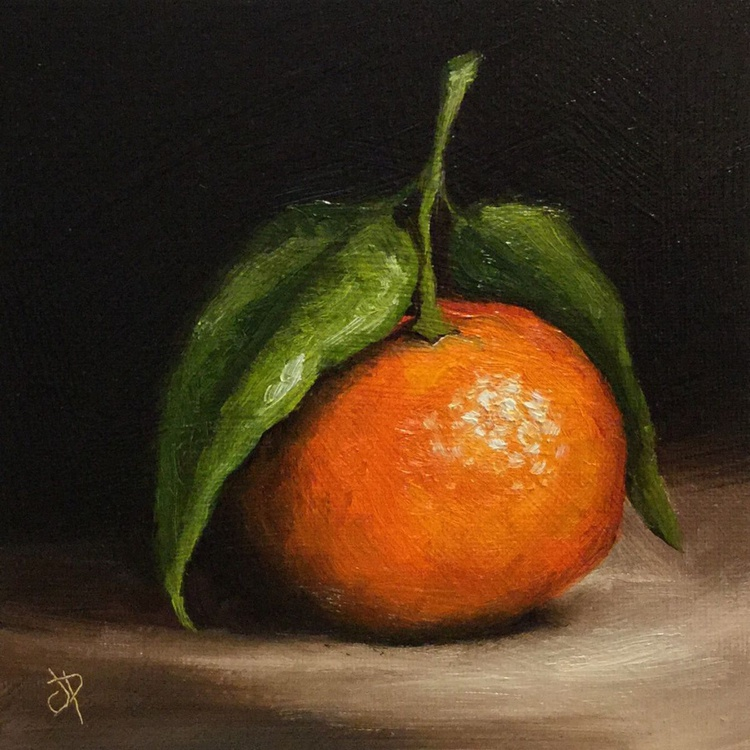 Clementine with leaves - Image 0