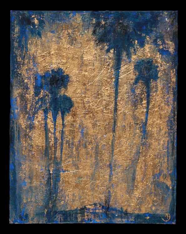 Palm Trees (in blue) -
