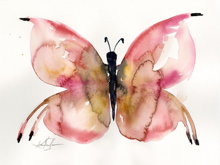 Watercolor Butterfly 2 - Abstract Butterfly Watercolor Painting - Image 0