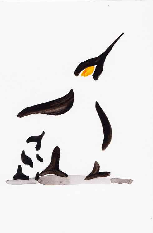 Penguin and a chick 1015H -