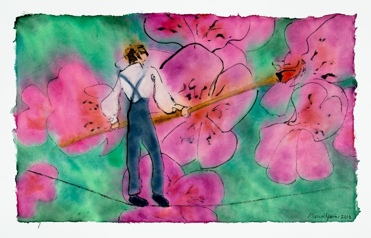 The tightrope Elf who paints flowers when they're sad - Image 0