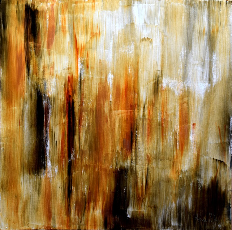Abstract Brown / 60 cm x 60 cm - Image 0