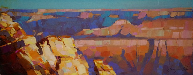 Grand Canyon National Park Handmade oil painting One of a kind Signed - Image 0