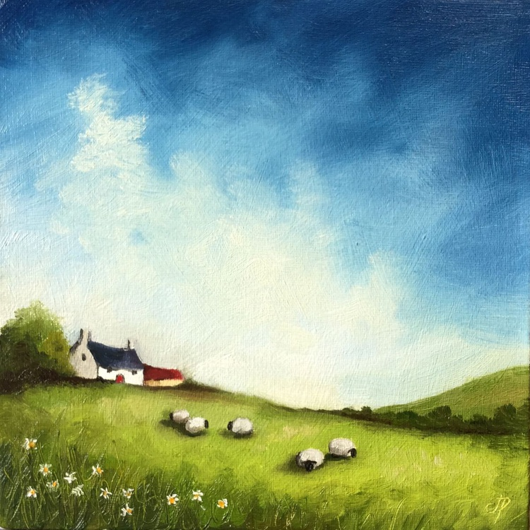 Welsh cottage with Sheep - Image 0