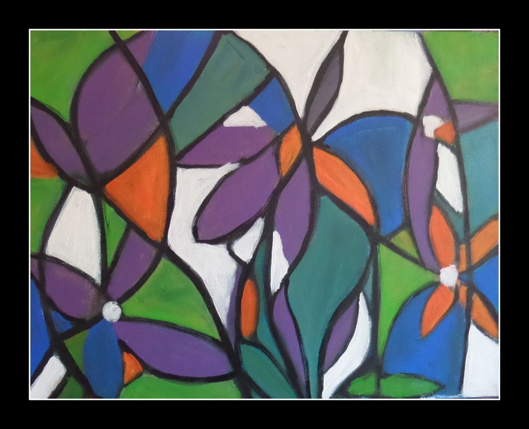 Stain  glass flowers - Image 0