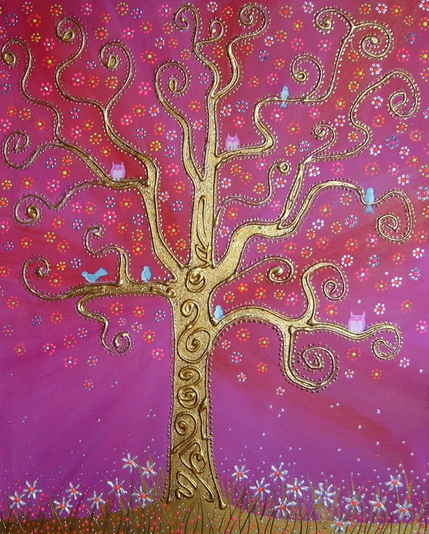 Golden tree of happiness - Image 0