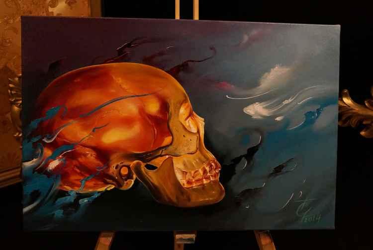 Skull, oil on canvas