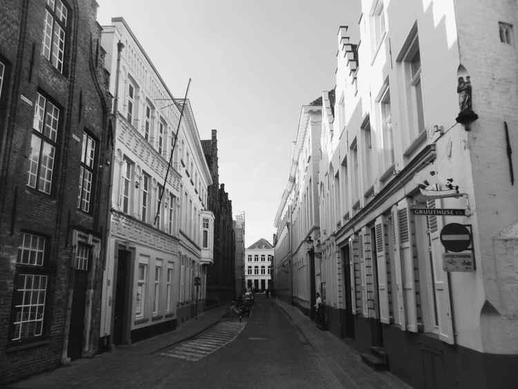 Bruges side street. -