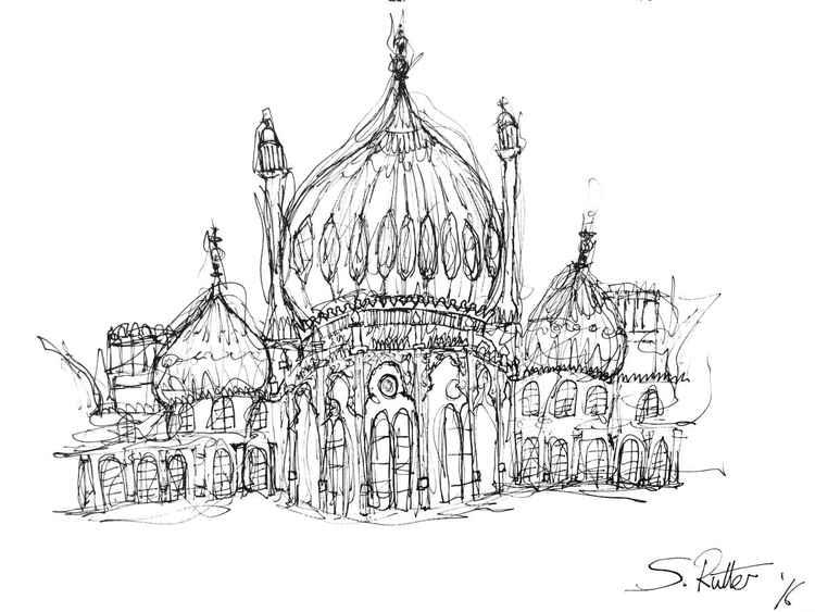 Brighton Pavilion Sketch -