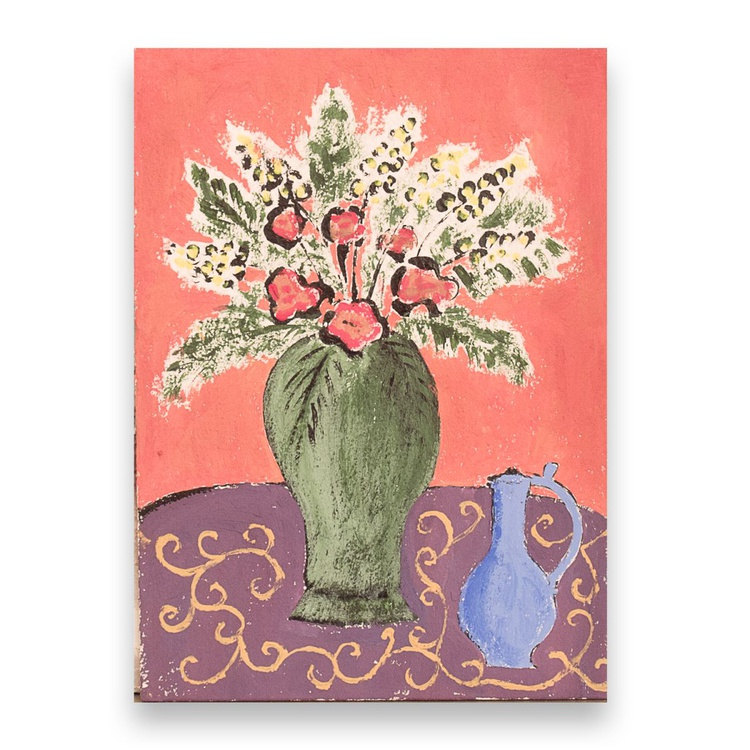 Still life with flower vase - Image 0