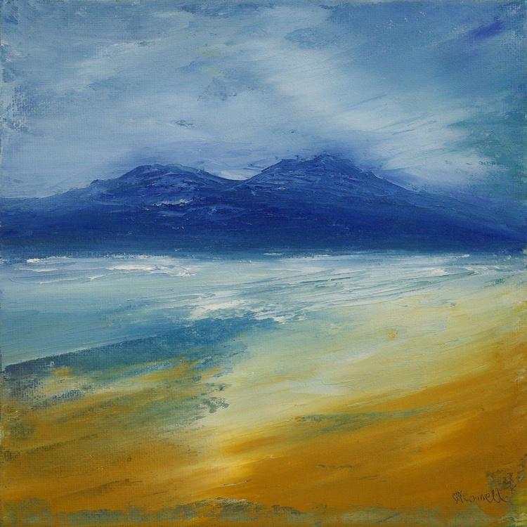 Luskentyre Beach, Scottish coastal seascape - Image 0