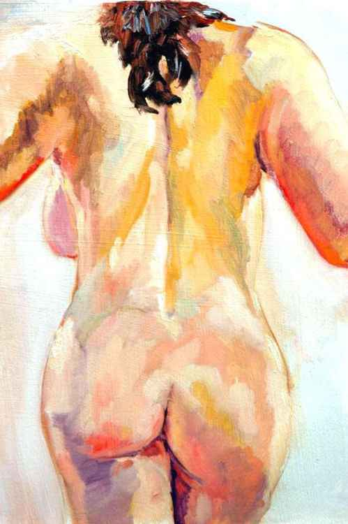 Study #3-back view of nude -