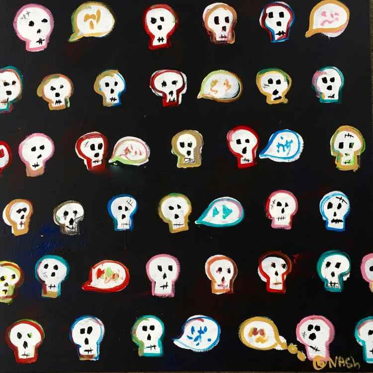 Skulls black -