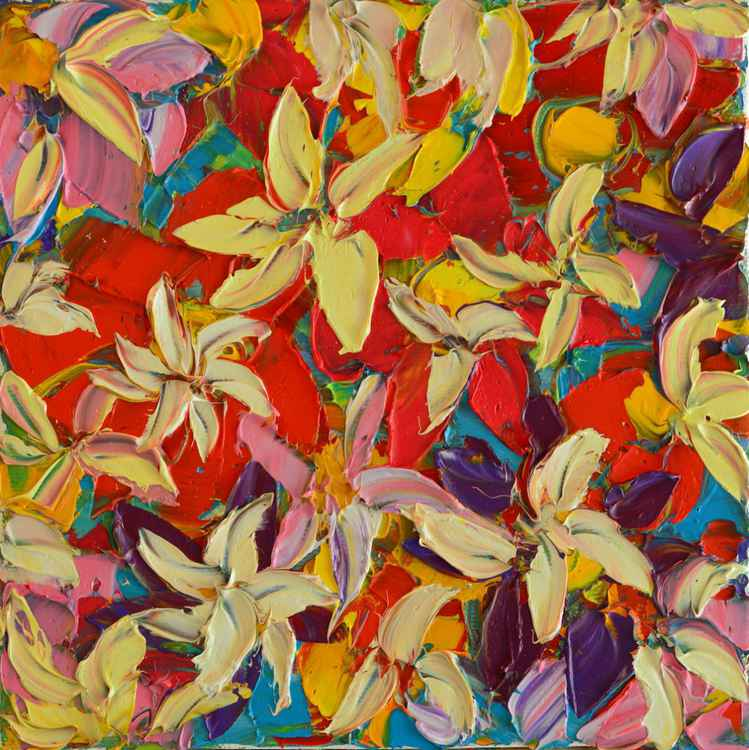 ABSTRACT FLORAL - PAINT JOY SERIES -