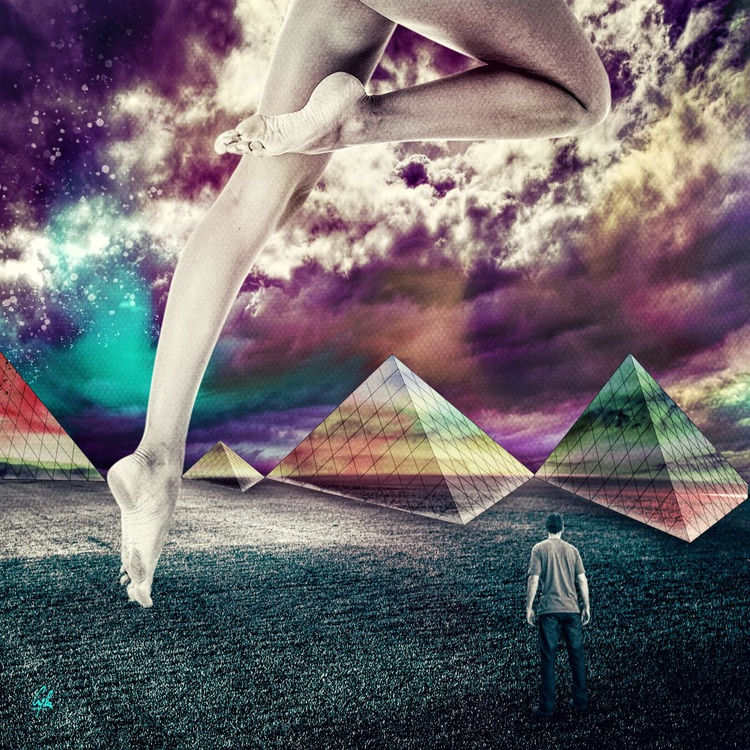 THE PYRAMID OF FREEDOM | DIGITAL PAINTING PRINTED ON PHOTO PAPER | UNIQUE ARTWORK | 50 X 50 CM | HIGH QUALITY - Image 0