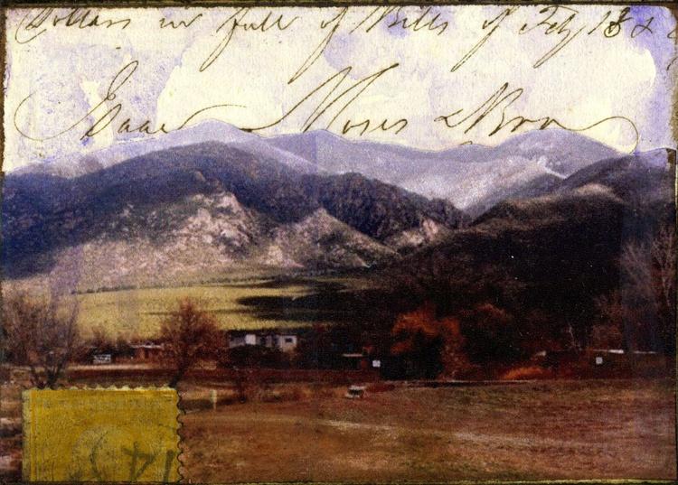 Mountain Range, Mixed Media Miniature Art - Image 0