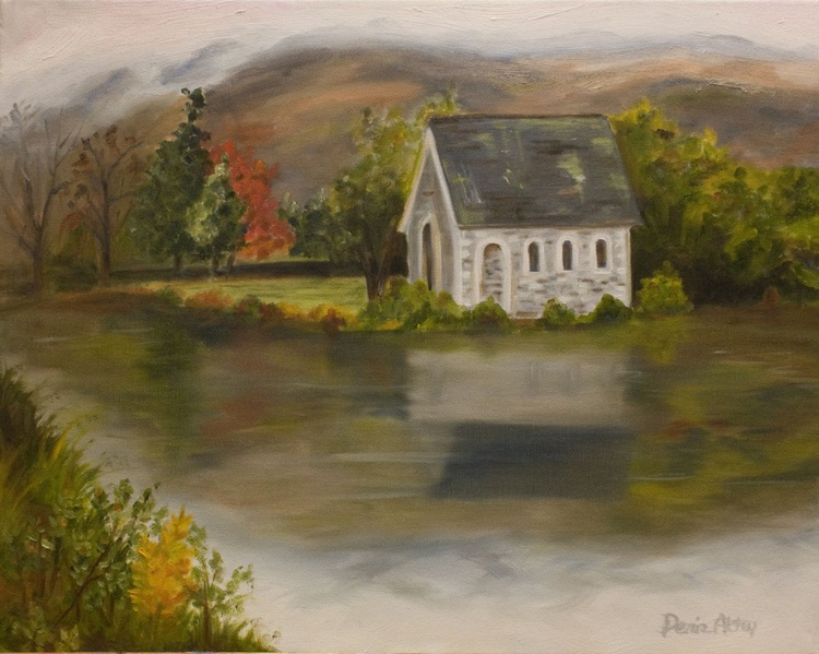 Old Church By The Lake - Image 0
