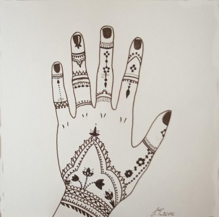 Mehndi Hand 2 - Image 0