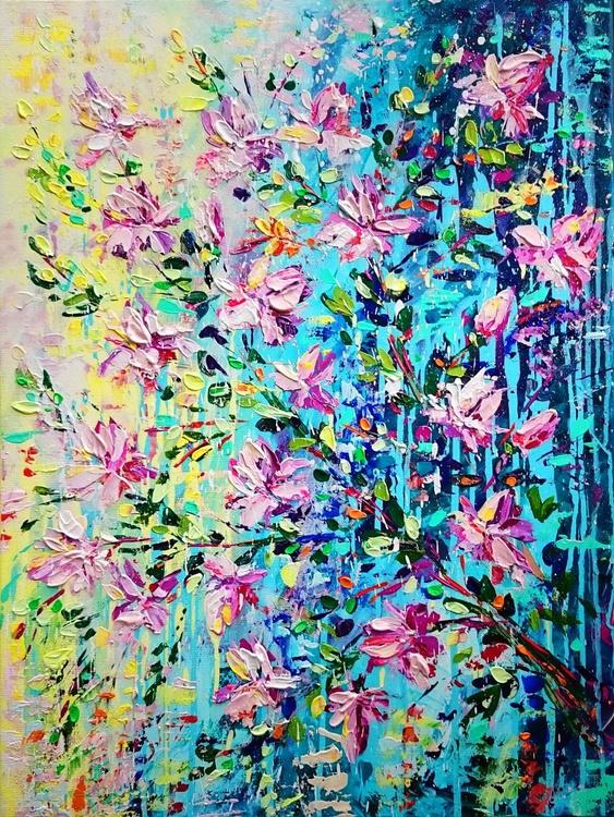 Magnolias flowers; size 60 X 80 cm, depth - 4cm - Image 0