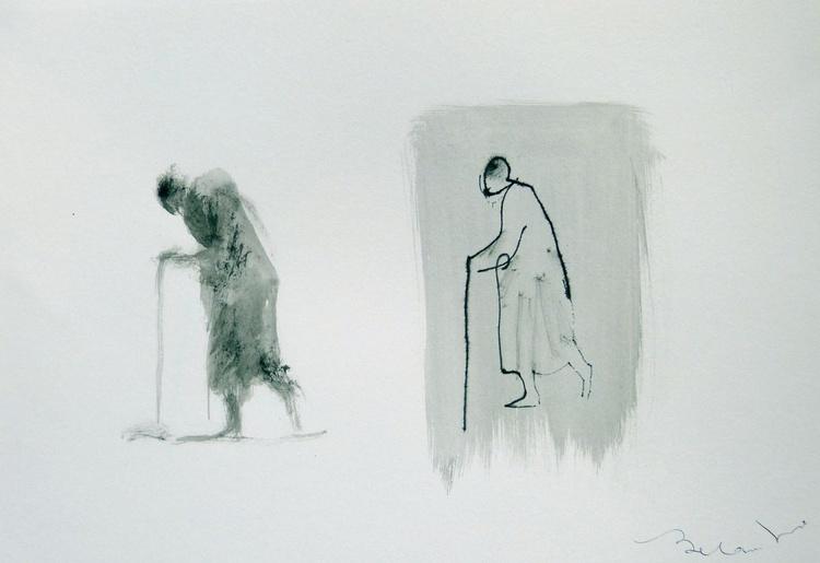 Elderly passers-by 1, 21x29 cm - Image 0