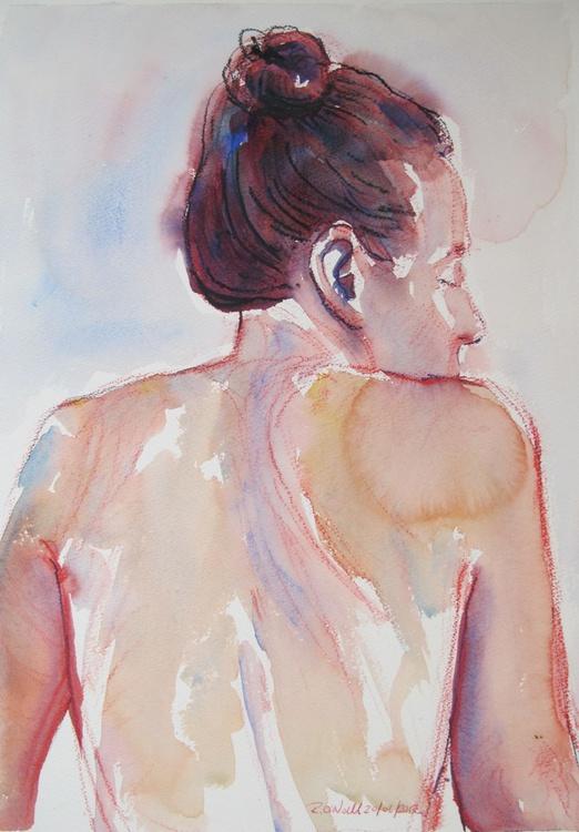 seated/reclining female nude - Image 0
