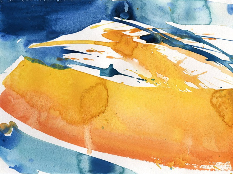 Serenity 20 - Abstract Watercolor Painting by Kathy Morton Stanion - Image 0