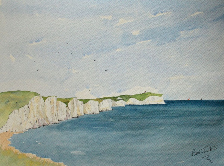 The Seven Sister Cliff 2. Seaford in Sussex - Image 0