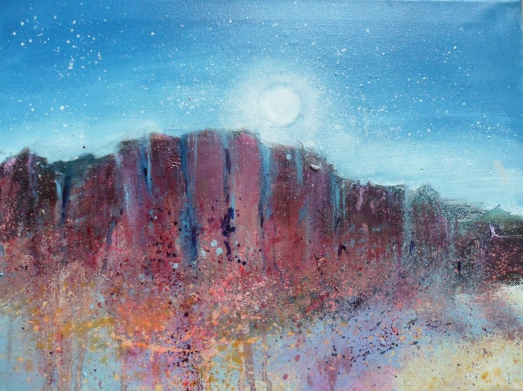 Moonlight over crags - Image 0