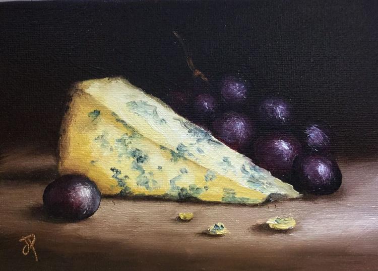 Cheese and grapes No. 2 - Image 0