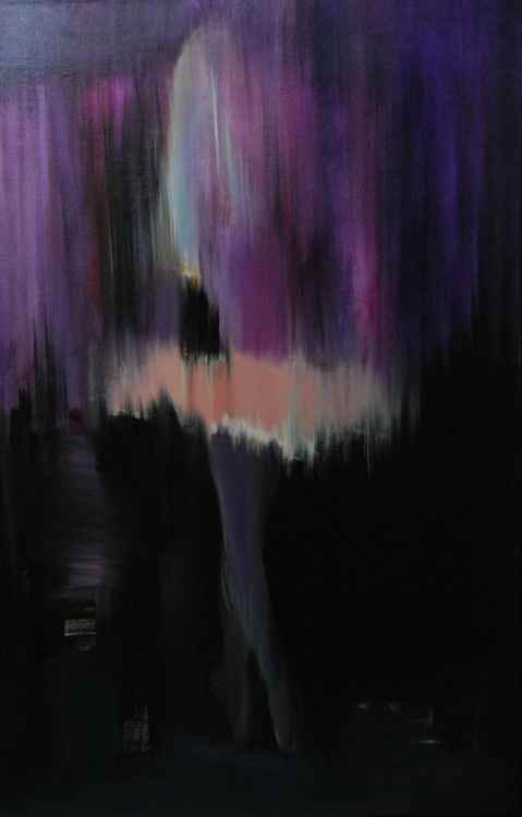 "Abstract ballet dancer painting ""Colors of Night"" -"