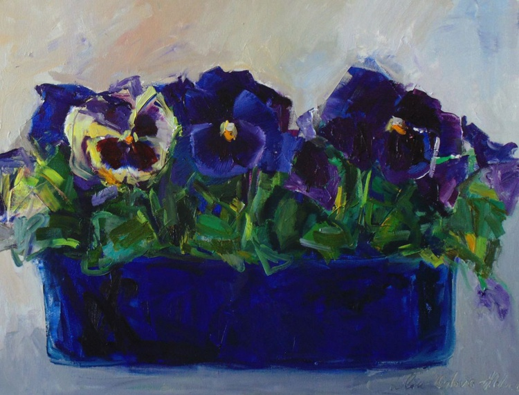 Conversation with pansies 2 - Image 0