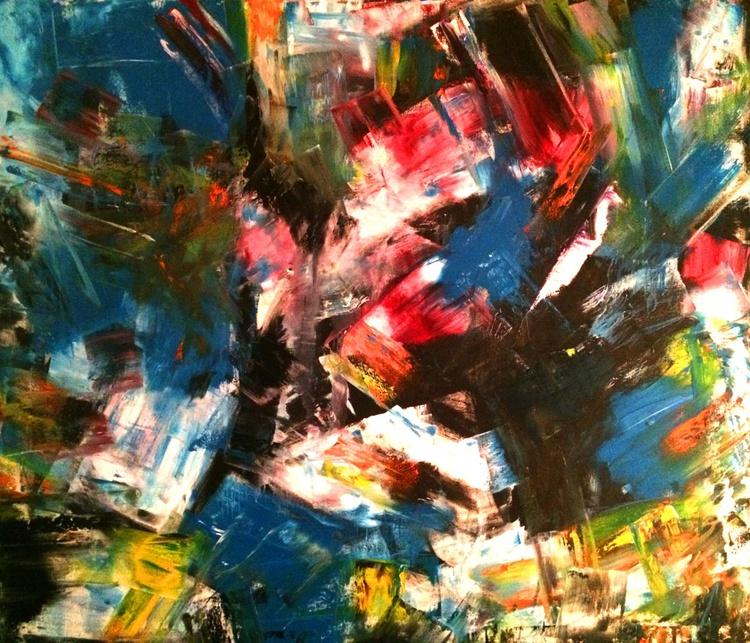 Conceptual Journey - Oil on Canvas 50x60 Oversize - Image 0