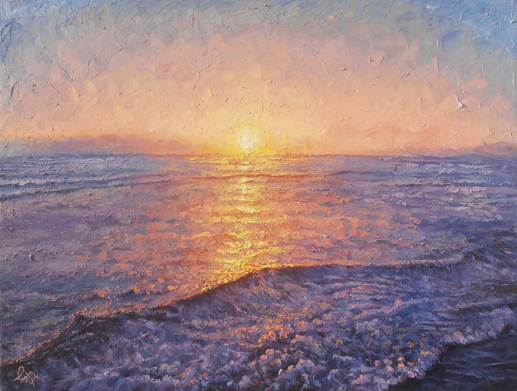 Sunset at seashore - Image 0