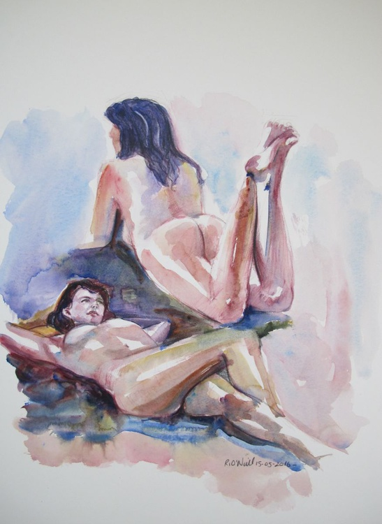 reclining female nudes - Image 0