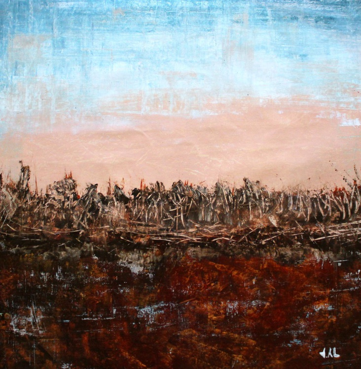 Autumn's rust- abstract landscape - Image 0