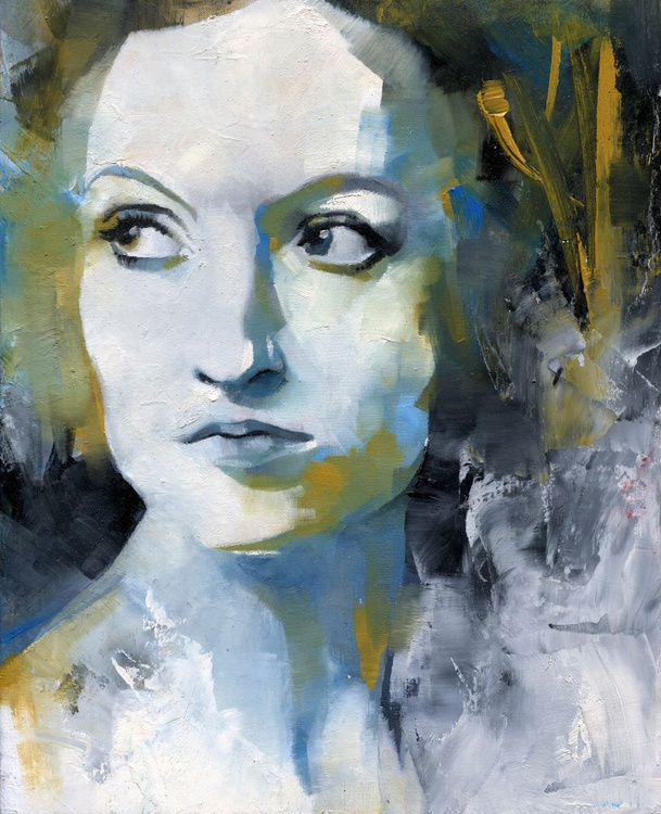 Study in Blue and Ochre - Image 0