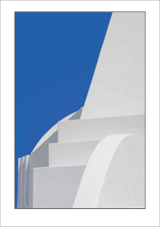 From the Greek Minimalism series: Greek Architectural Detail (Blue and White) # 12, Santorini, Greece -