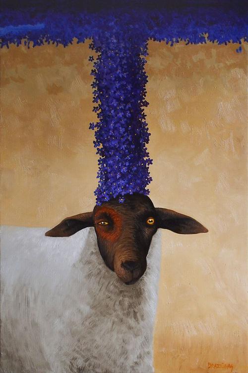 Queen of violets, 90x60cm - Image 0