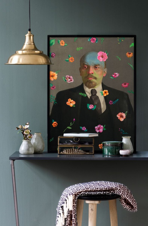 Lenin with Flowers - Image 0