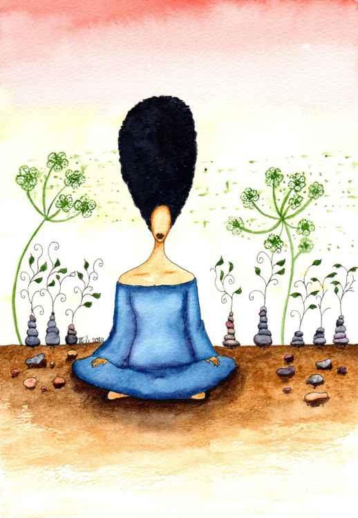 Needing Stillness Original Watercolor Art